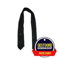 Krawatte schmal schwarz mit Rosenmotiv