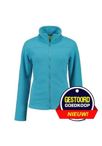 Lemon & Soda Fleece vest licht-blauw