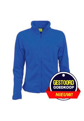 Lemon & Soda Fleece vest kobalt blauw