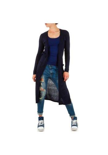 Neckermann Dames Cardigan one size - Dk Blauw
