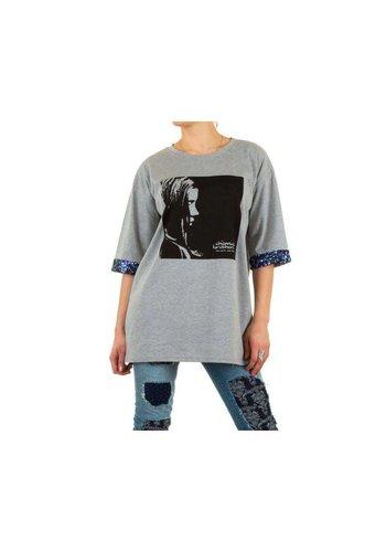 JULIE BY JCL Dames Sweater van Julie By Jcl - Grijs