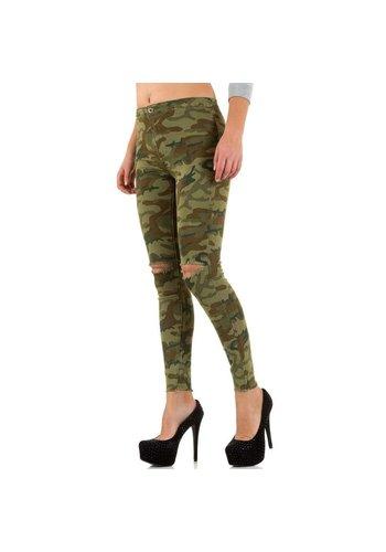 GOLDENIM Damen Jeans von Goldenim - armygreen