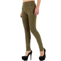Dames broek van Best Fashion - khaki