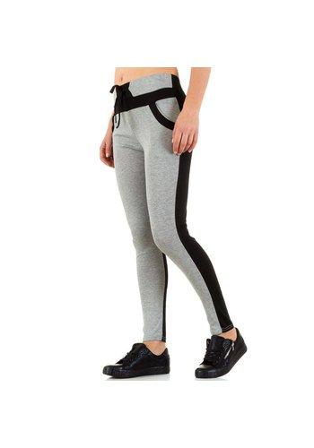 Best Fashion Pantalons pour dames de la meilleure mode - Gris Noir
