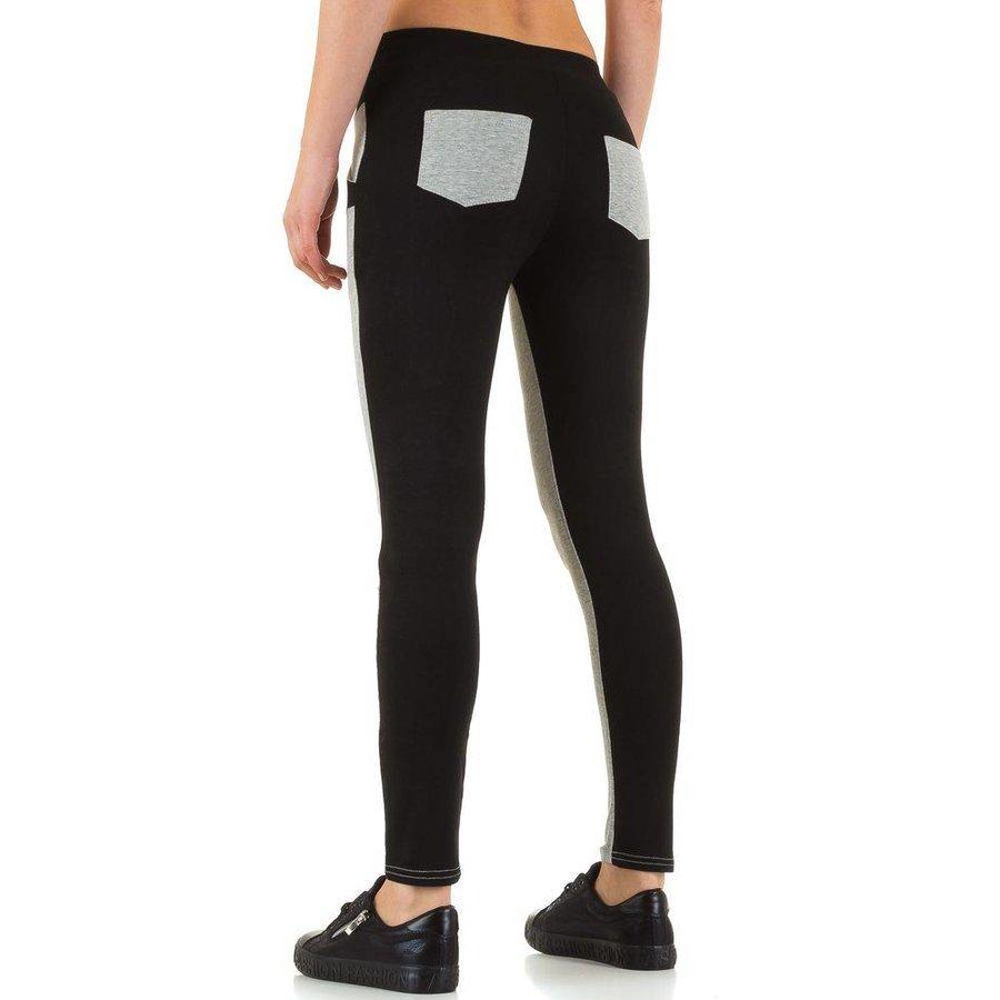Pantalons pour dames de la meilleure mode - Gris Noir