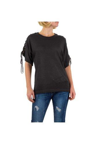 SHK MODE Damen Bluse von Shk Mode Gr. one size - DK.grey
