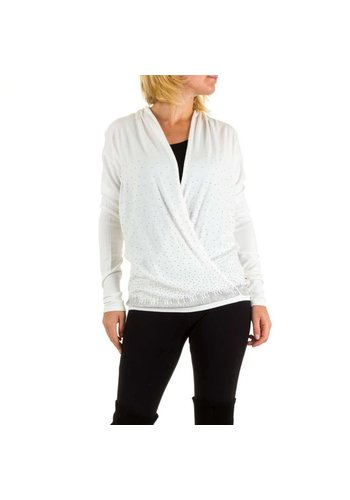 MOEWY Dames trui van Moewy one size - wit