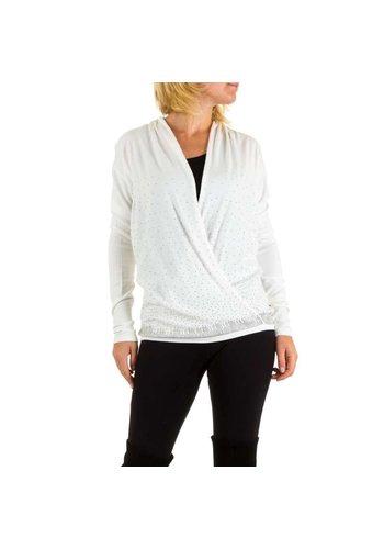 MOEWY Frauen Pullover von Moewy eine Größe - weiß