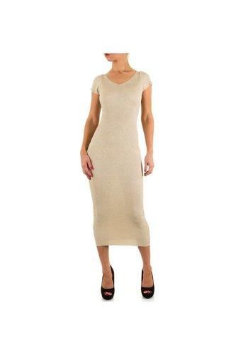 MOEWY Dames jurk van Moewy Gr. one size - beige