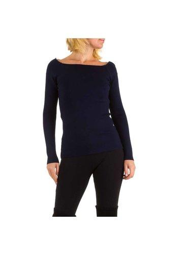 MC LORENE Dames pullover van MC Lorene Gr. one size - donker blauw