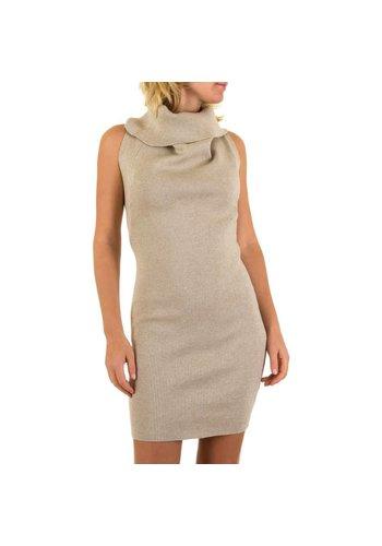 MC LORENE Dames jurk van Mc Lorene Gr. one size - beige