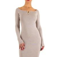 Damen Kleid von Moewy one size - beige