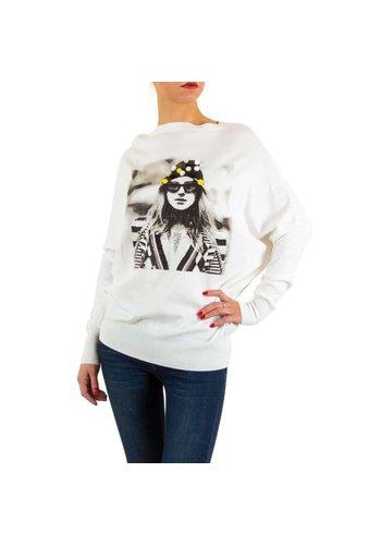 MOEWY Frauen Pullover von Moewy Gr. eine Größe - weiß