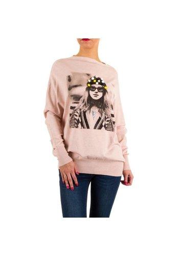 MOEWY Frauen Pullover von Moewy Gr. eine Größe - rosa