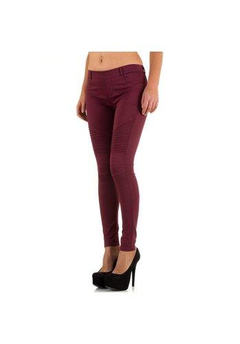 Laulia Dames Jeans van Laulia - Donker Rood