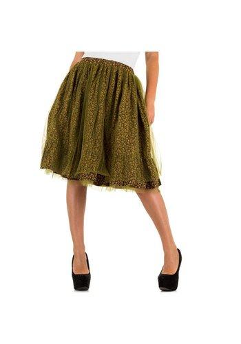 JCL Dames rok van Jcl - groen