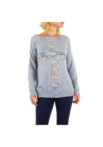 Panacher Frauen Pullover von Panacher eine Größe - grau