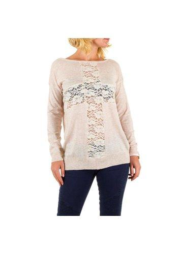 Panacher Damen Pullover von Panacher eine Größe - Creme