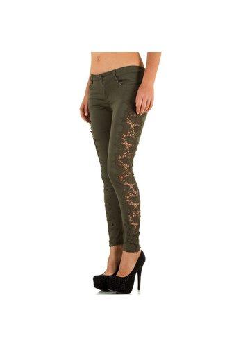 Damen Jeans von Laulia  khaki