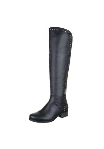 LUCKY SHOES Dames laarzen - zwart