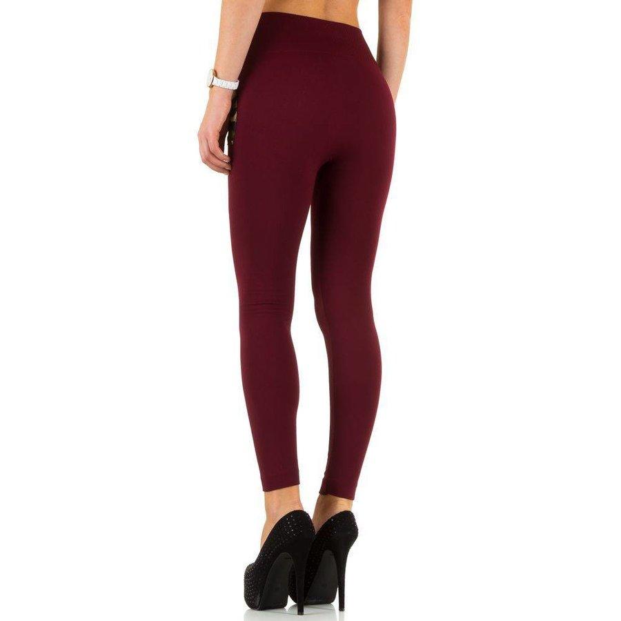 Damen Leggings von Best Fashion one size - red