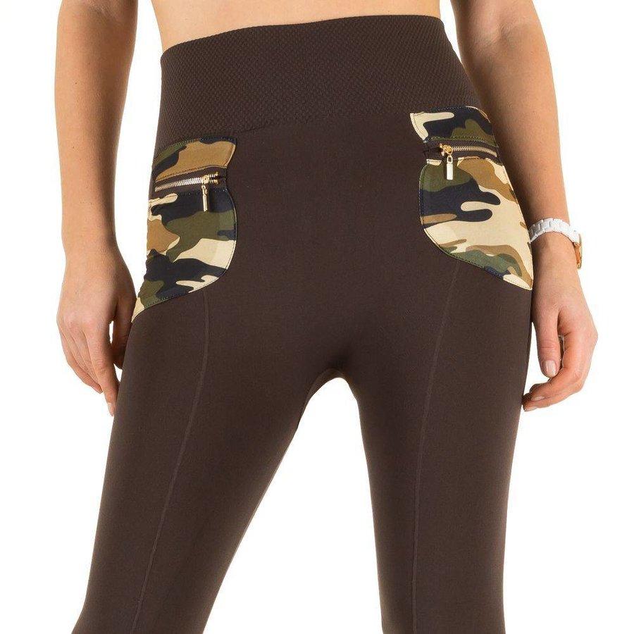 Damen Leggings von Best Fashion  one size - brown