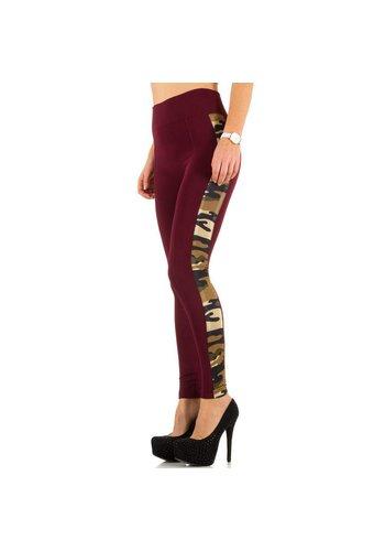 Best Fashion Leggings pour femme de Best Fashion taille unique - rouge