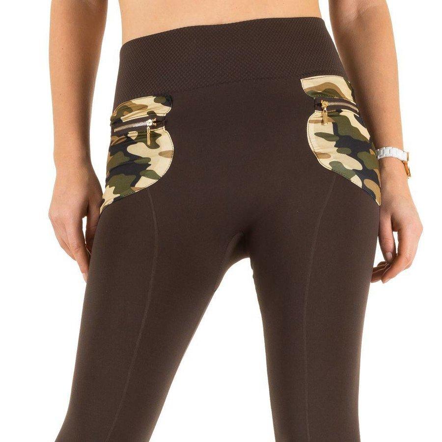 Damen Leggings von Best Fashion one size - braun