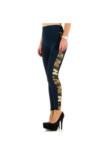 Best Fashion Leggings pour femme de Best Fashion taille unique - bleu