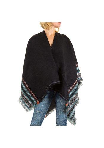 Best Fashion Poncho pour femme de Best Fashion taille unique - noir