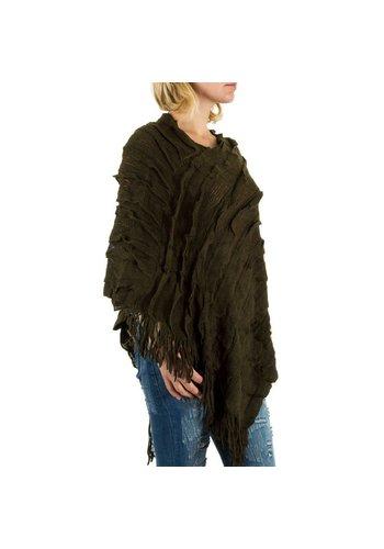 Best Fashion Dames Poncho van  Best Fashion one size - groen