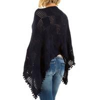 Poncho pour femme de Best Fashion taille unique - bleu