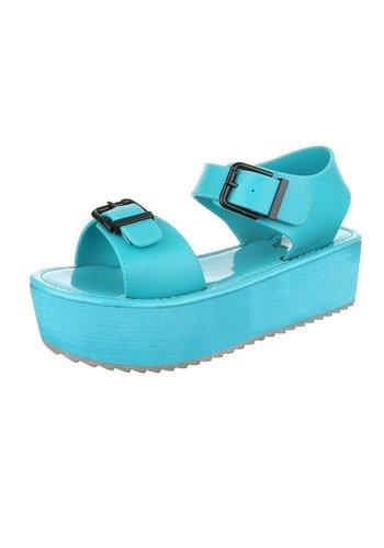 Neckermann Damen Sandaletten - turquoise