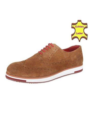 COOLWALK Chaussure pour homme en cuir de Coolwalk Cognac