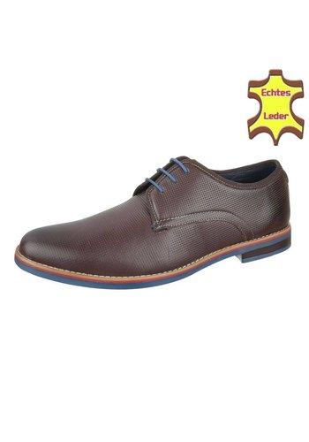 COOLWALK Heren business schoenen - bruin Leer