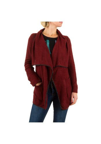 BEST EMILIE Damen Strickjacke von Best Emilie - bordeaux