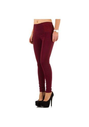 BEST EMILIE Dames Jeans van Best Emilie - Donker Rood