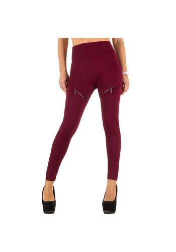 Best Fashion Dames Leggings van Best Fashion one size - Donker Rood