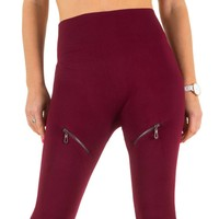 Damen Leggings von Best Fashion Gr. one size - wine