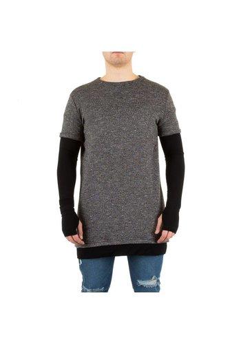 SIXTH JUNE Heren Sweater van Sixth June - grijs