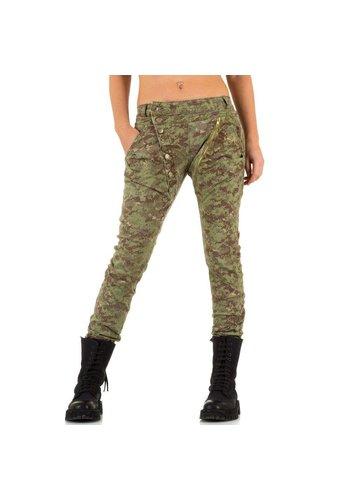 Mozzaar Dames Jeans van Mozzaar  - Leger groen