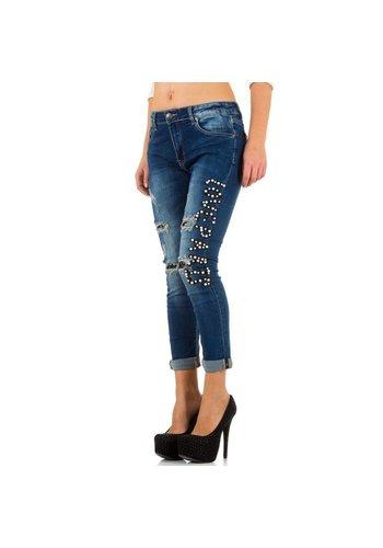 Mozzaar Damen Jeans von Mozzaar  - blue