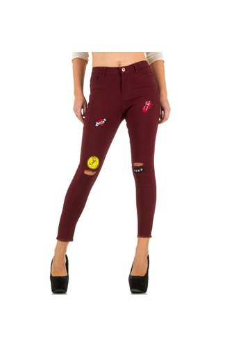 GIRL VIVI Dames jeans van Girl Vivi  - bordeaux