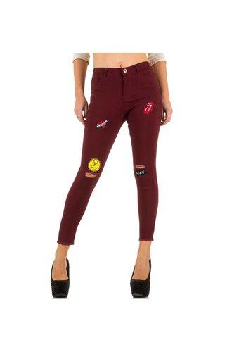 GIRL VIVI Jeans pour femme de Girl Vivi - rouge