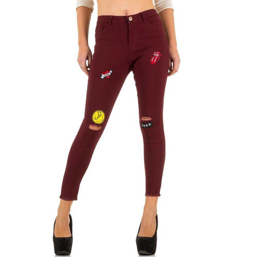 Damen Jeans von Girl Vivi  - wine