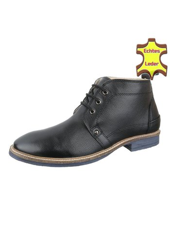 COOLWALK Chaussures pour hommes en cuir de COOLWALK -Noir