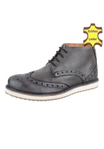 COOLWALK Leren Heren casual boot van COOLWALK  Grijs