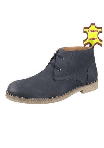 COOLWALK Heren Leren casual boot van COOLWALK-Blauw