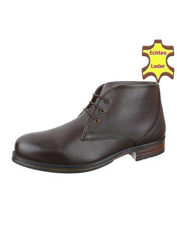 COOLWALK Chaussures pour hommes en cuir de COOLWALK -Marron