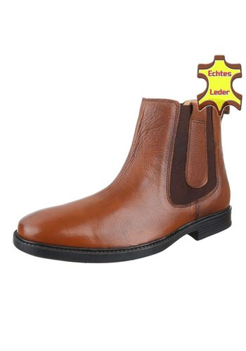 COOLWALK Bottes de cheville en cuir pour homme de COOLWALK - marron clair